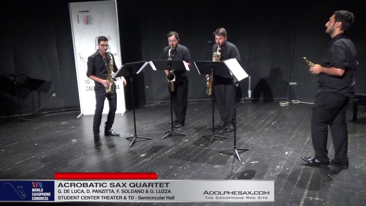 A Balkan night by Lodi Luka   Acrobatic Saxophone Quartet   XVIII World Sax Congress 2018 #adolphesa