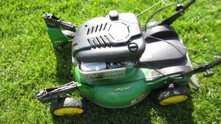 John Deere JS63C Lawn Mower -- Self Propelled Test & Unlocked Swivels - Part IV -- April 20, 2013