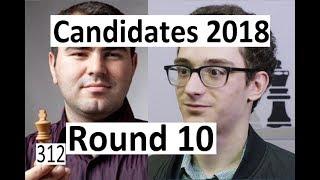 Candidates 2018: Round 10 with Caruana-Mamedyarov!
