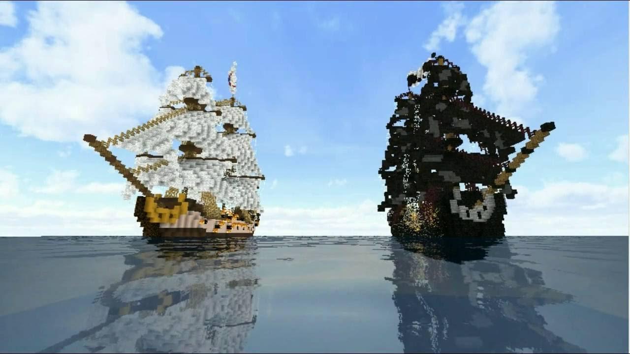 minecraft p rola negra black pearl piratas do caribe. Black Bedroom Furniture Sets. Home Design Ideas