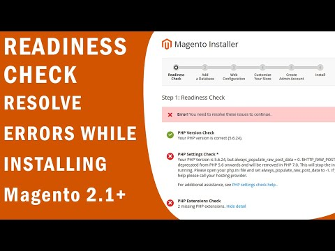 Readiness Check: PHP Settings Check erros while installing magento 2