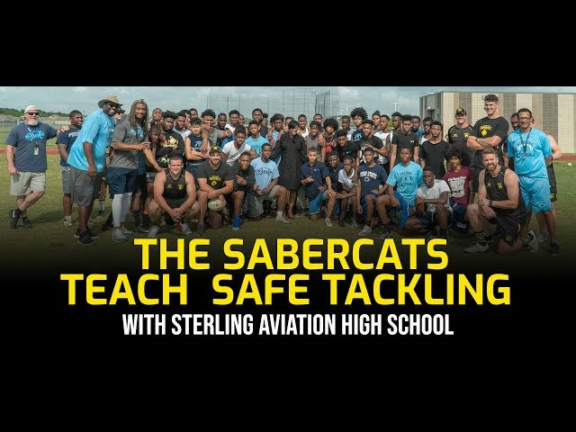 SaberCats Teach Safe Tackling at Sterling High School in Houston
