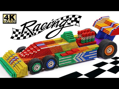 DIY - How To Make 6 Wheel F1 Car From Magnetic Balls (Satisfying) | Magnet World Series