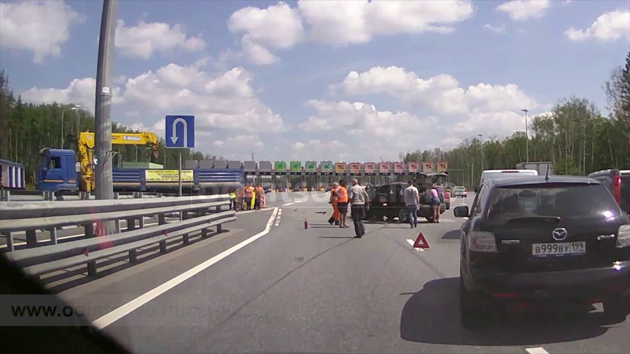 ДТП на Северном обходе Одинцово Lexus и грузовик ПВП69