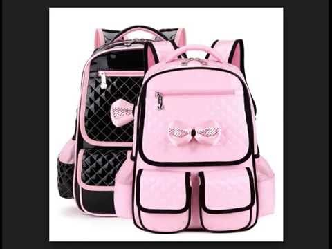 Latest Beautiful School Bags For Girls, Boys, Kids Video#4 ...