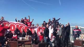 FC Köln Fans auf dem weg nach London