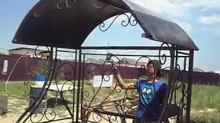 Мангал с крышей