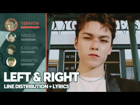 SEVENTEEN - Left & Right (Line Distribution + Lyrics Color Coded) PATREON REQUESTED