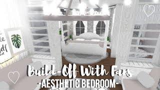 Aesthetic Bedroom Build-Off W/ Fans ♡   Roblox