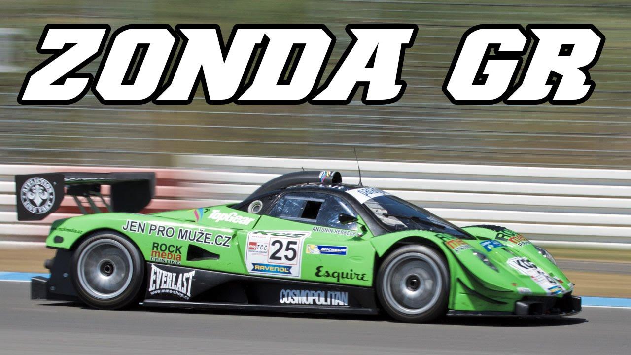Pagani Zonda GR racing at Hockenheim 2014 (small flames) - YouTube
