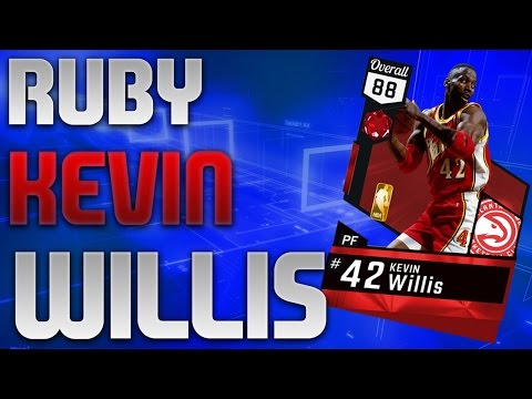 NBA 2K17 MyTeam - Ruby Kevin Willis Gameplay - Dynamic Duo Lillard & McCollum