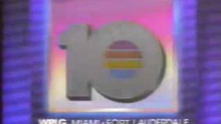 "WPLG Miami/Fort Laderdale Channel 10-""Eyewitness News"" 5:00pm Open December 1988"
