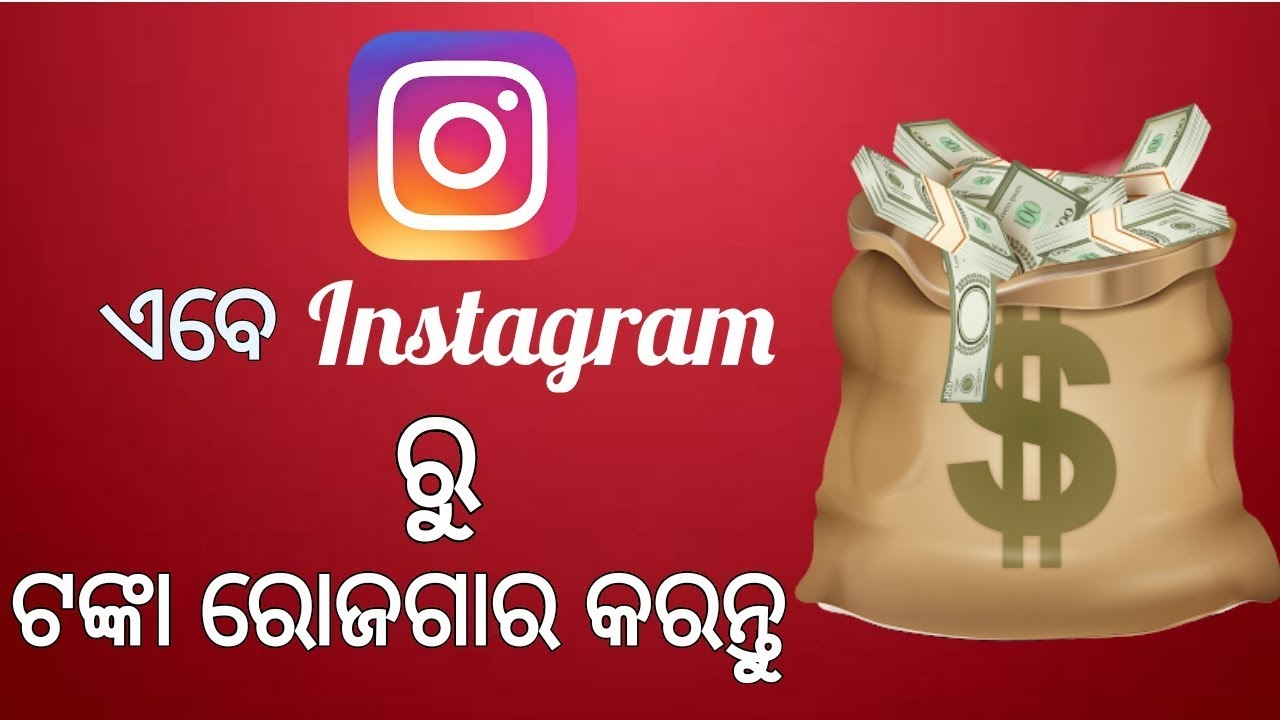 [ODIA]How to Earn Money from INSTAGRAM