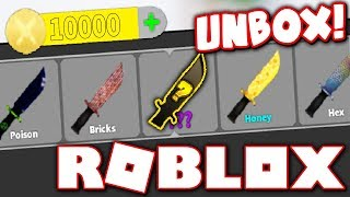 10,000 COIN UNBOXING IN MURDER MYSTERY X!! (Roblox)