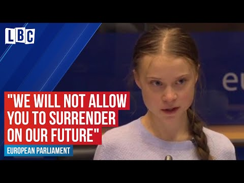 "Greta Thunberg passionately condemns the EU: ""We will not allow you to surrender on our future""."