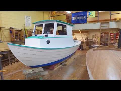 CFCC Wooden Boat Building - Timelapse