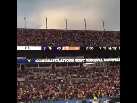 """West Virginia Football Fans Sing """"Take me Home Country Roads"""" After Win Vs. Tennessee"""