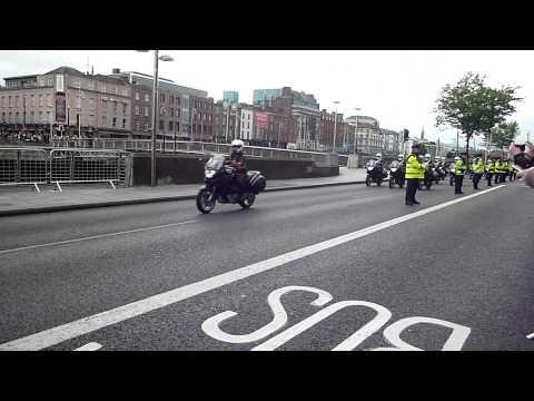 Queen Elizabeth II motorcade in Dublin, Ireland