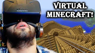You Can Jump Into Minecraft & Ride On Epic Roller Coasters! | Oculus Rift DK2