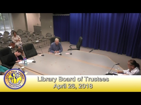 Library Board of Trustees | April 26, 2018