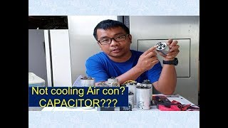 Air con Repair / Defective capacitor troubleshooting / Tagalog part 1