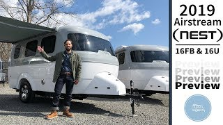 2019 Airstream Nest Compact Travel Trailer Preview Video