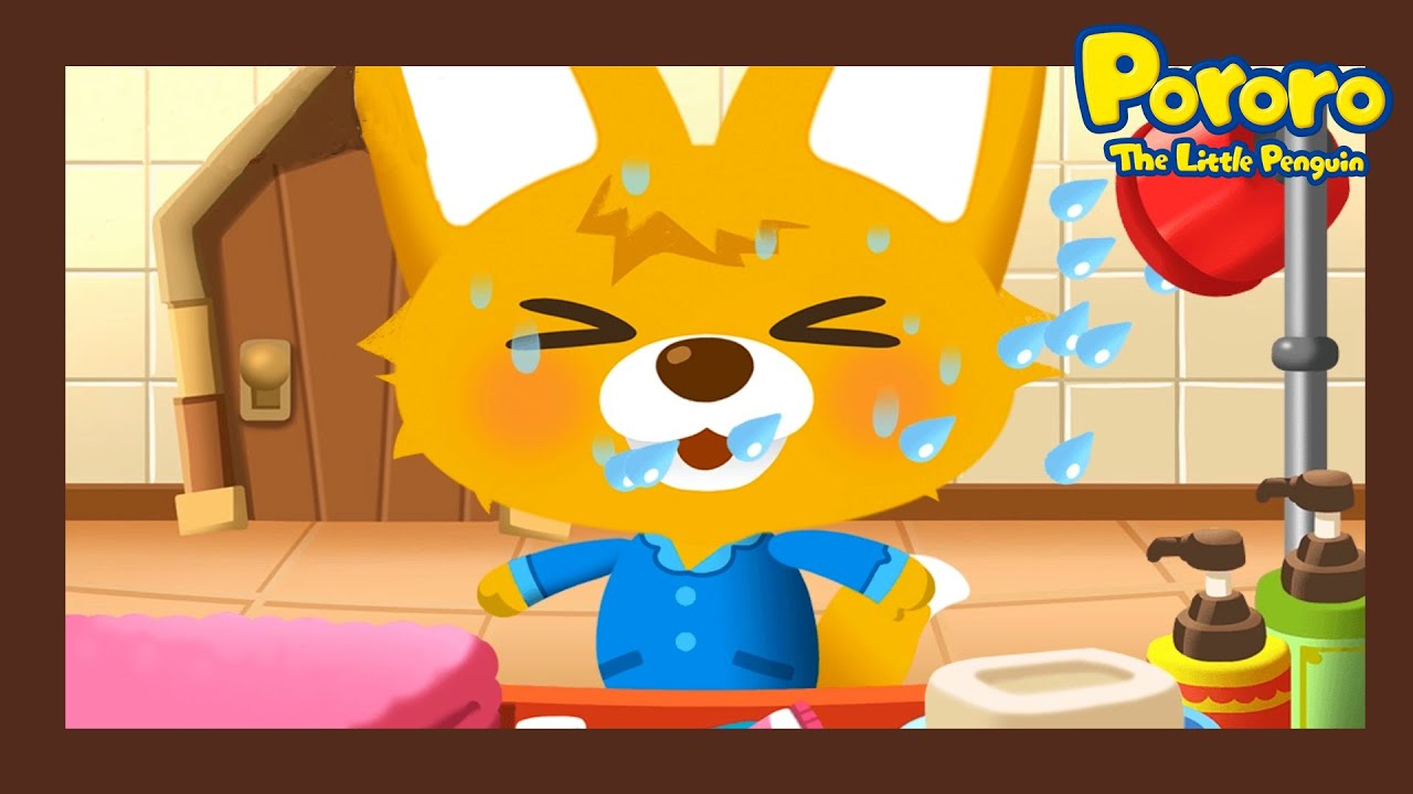 Wash together with Eddy !  | Learn Healthy Habits for Kids | Kids Animation | Pororo Little Penguin