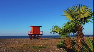 Orange lifesaving tower. Free stock video. Full HD footage Free. Rec.709 1080p 60fps #9