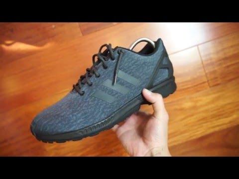 "Adidas ZX Flux ""Pirate Black"" Custom (Detailed Look + On Feet) HD"