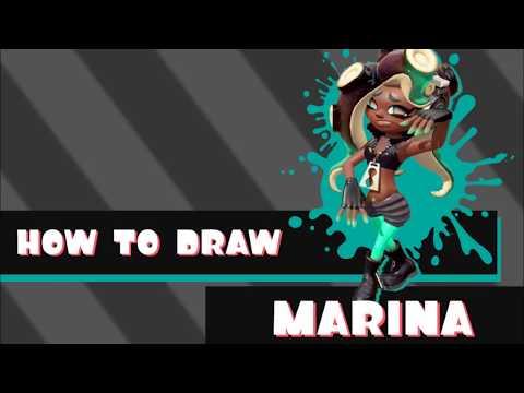 Tutorial Tuesday How To Draw Marina Splatoon 2 Youtube