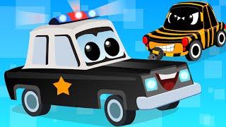 Zeek And Friends |Police Car Song | vehicle songs | Nursery Rhymes