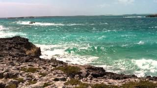 Waves Crashing on the Leeward Side of Highbourne Cay, Northern Exumas
