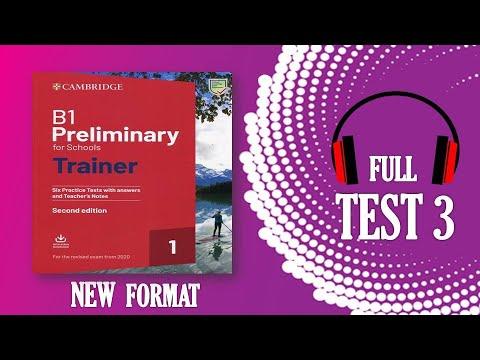 B1 PET   Listening full test 3   Cambridge Trainer 2020