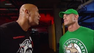 The Rock and John Cena look to Royal Rumble 2013: Raw, July 23, 2012