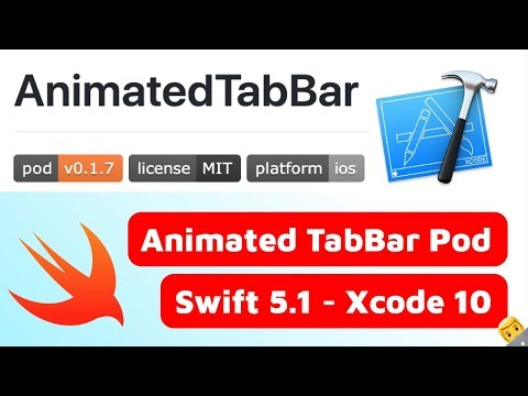 How to Use The AnimatedTabBar Cocoapod - Swift & Xcode Tutorial thumbnail
