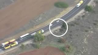 עקיפה מסוכנת בכביש 35 / צילום: דוברות המשטרה / ברנז'ה NEWS