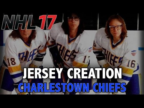 NHL 17 Jersey Creation  Charlestown Chiefs from the movie Slap Shot