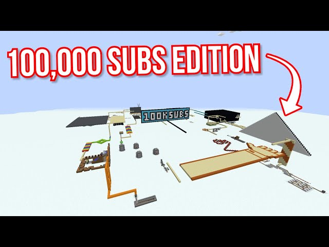 Domino in Minecraft part 15 (100K SUBS EDITION)