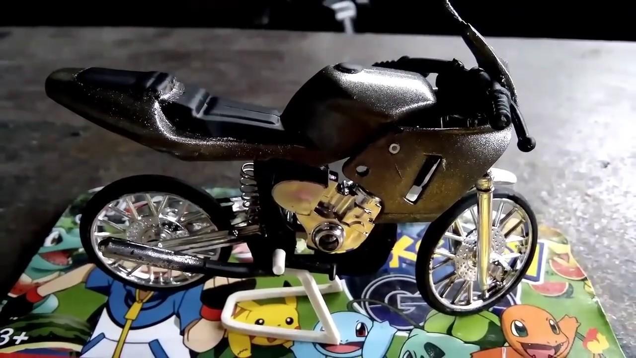 Merubah Motor Tril Klx Menjadi Motor Ninja Rr Racing Look Miniatur Motor Ninja Rr Youtube