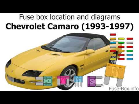 fuse box location and diagrams: chevrolet camaro (1993-1997) - youtube  youtube