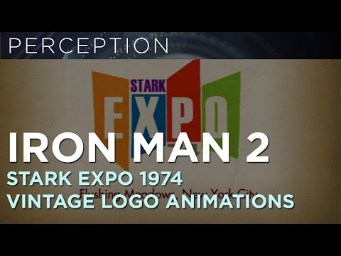 Iron Man 2 Stark Expo-Vintage Logo Animation Explorations