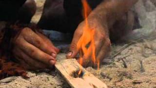 Tom Hanks In Cast Away - Making A Fire Scene