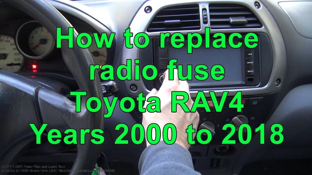 How to replace radio fuse Toyota RAV4  YouTube