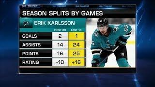 NHL Tonight:  Karlsson is clicking:  Erik Karlsson is heating up in San Jose  Jan 9,  2019
