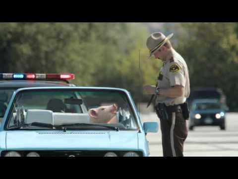 Geico Commercial :: Pig Driving a Convertible :: Anuncio de televisión