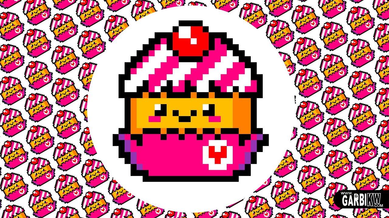 Kawaii Cupcake Drawing Pixel Art By Garbi Kw Cute Characters Design