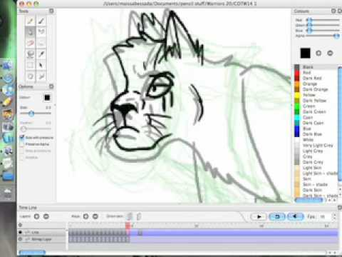 Cat walk sequence on pencil tutorial youtube Free 2d software