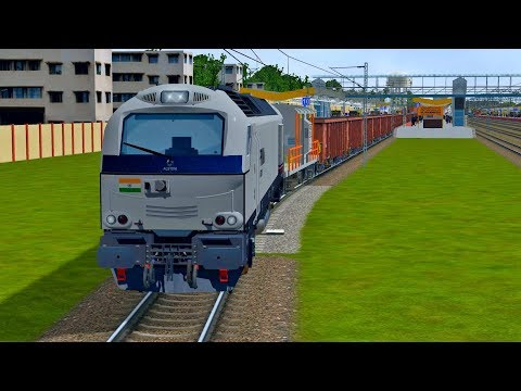 Testing Footage !! New Alstom Loco For Indian Railways