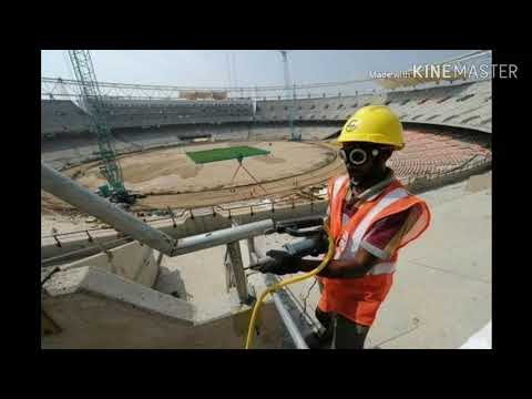 WORLD LARGEST CRICKET STADIUM ROOF  INSTALLATION process