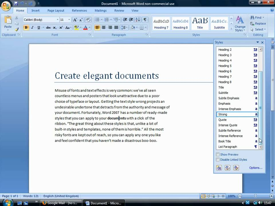 Create elegant documents using Quick Styles in Word 2007 - YouTube
